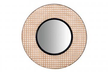 ESPEJO REJILLA METAL MARRON-NEGRO 70x2x70 CM