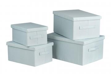 SET 4 BOXES 40x30x20/36x26x18/32x22x16/28x19x14 CM