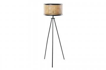 LAMPARA DE SUELO METAL-RATAN 45x45x144 CM