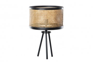 LAMPARA DE MESA METAL-RATAN 35x35x50 CM