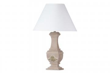 LAMPARA DE SOBREMESA MADERA ANTIQUE 40x40x71 CM