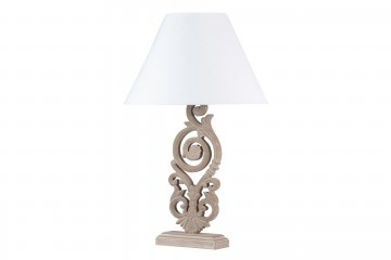 LAMPARA DE SOBREMESA MADERA 46x46x74 CM