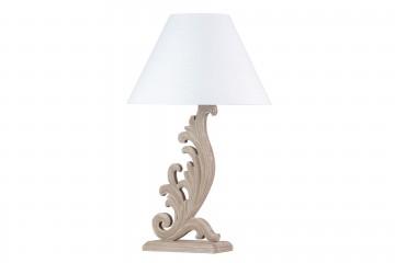 LAMPARA DE SOBREMESA MADERA ANTIQUE 25x14x80 CM
