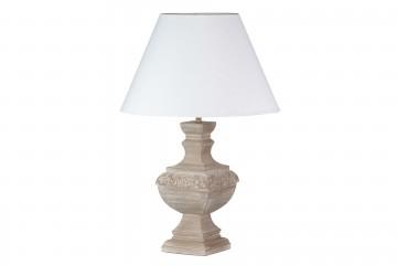 LAMPARA DE SOBREMESA MADERA ANTIQUE 50x50x80 CM
