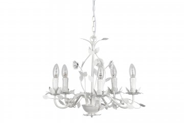 LAMPARA TECHO CHANDELIER BLANCA ANTIQUE 48x46x42CM