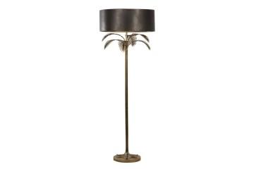 LAMPARA DE SUELO METAL DORADO 60x60x166 CM