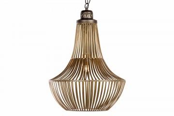 LAMPARA TECHO METAL DORADO-NEGRO 45x45x56 CM